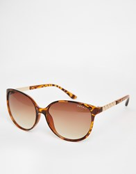 Esprit Rounded Tort Sunglasses Brown