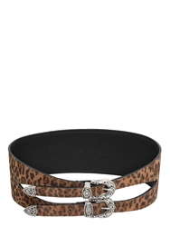 Giuseppe Zanotti 80Mm Leopard High Waist Leather Belt