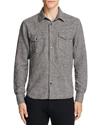 Atm Anthony Thomas Melillo Donegal Twill Slim Fit Snap Front Shirt Charcoal