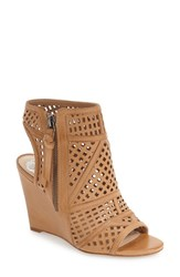 Vince Camuto Women's 'Xabrina' Perforated Wedge Sandal Camelback Leather