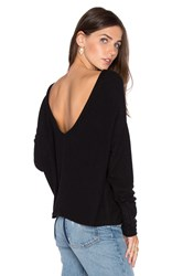 Project Social T Starlight Scoopback Sweater Black