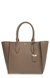 Michael Kors 'Large Gracie' Leather Tote Grey Elephant