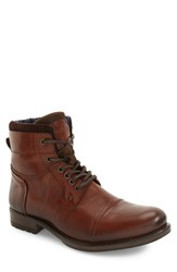 Dune Men's London Calabash Military Boot Tan Leather