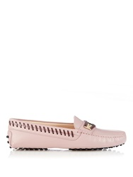 Tod's Gommino Woven Edge Leather Loafers
