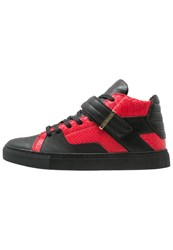 Cayler And Sons Sashimi Hightop Trainers Vintage Black Red Gold