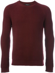 Roberto Collina Ribbed Jumper Pink And Purple