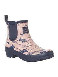Radley Cherry Blossom Ankle Wellie Boot Pink