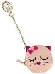 Furla Cat Pouch Keychain Pink Purple