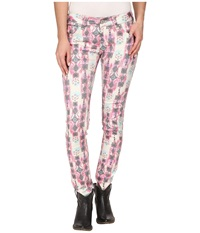 Rock And Roll Cowgirl Low Rise Skinny In Aztec Print W0s2472 Aztec Print Women's Jeans Multi