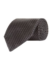 Tom Ford Tonal Houndstooth Tie Unisex Black
