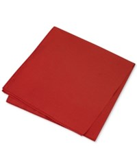 Club Room Men's Simple Solid Pocket Square Only At Macy's Red