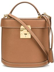 Mark Cross 'Benchley' Box Tote Brown