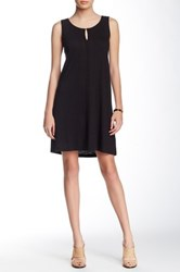 Lilla P Flame Seamed Tank Shift Dress Black