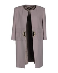 Elisabetta Franchi Coats And Jackets Full Length Jackets Women Dove Grey