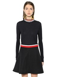 Marni Embellished Collar Wool And Silk Sweater