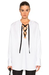 Tome Piquet Peasant Top In White