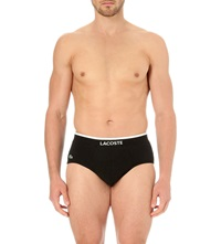 Lacoste Pack Of Two Stretch Cotton Briefs Black