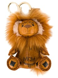 Mcm 'Signature Lion' Charm Brown