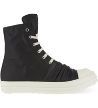 Drkshdw Layered Zip Up High Top Trainers Blk White