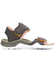 Adidas By Stella Mccartney Velcro Fastening Sandals Grey