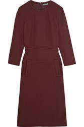 Bottega Veneta Wool Crepe Dress Merlot