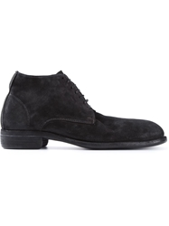 Guidi Distressed Desert Boots Black