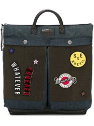 Diesel Patched Backpack Blue