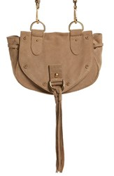 See By Chloe 'Small Collins' Leather And Suede Messenger Bag Brown Sand Shell