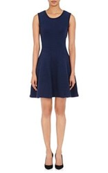 Thom Browne Women's Seed Stitched Flared Dress Navy