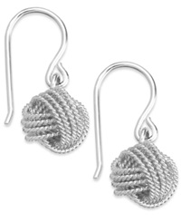 Giani Bernini Twisted Knot Drop Earrings In Sterling Silver