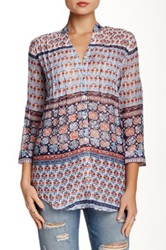 Chaudry Printed Blouse Blue