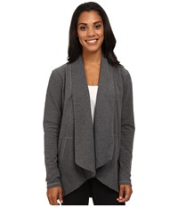Lucy Tranquility Wrap Fossil Heather Women's Sweater Gray