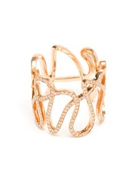 Repossi 18K Rose Gold And Diamond White Noise Ring Rose Gold White