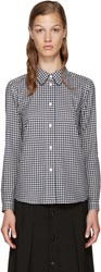 A.P.C. Navy And White Check Shirt
