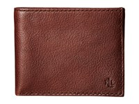 Lauren Ralph Lauren Oil Milled Slim Card Case Brown Credit Card Wallet