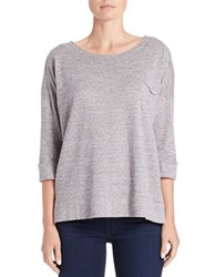 French Connection Knit Roundneck Top Grey Melange