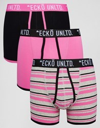 Ecko Unlimited 3 Pack Trunks Pink Set Pink