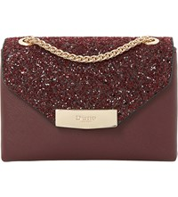 Dune Serenity Faux Leather Sequin Micro Bag Berry Plain Synthetic