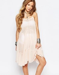 Glamorous Festival Cami Dress With Panel Detail And Lace Up Sides Light Pink