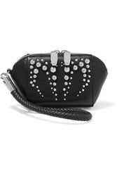 Alexander Wang Embellished Textured Leather Cosmetics Case Black