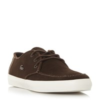 Lacoste Sevrin Apron Stitching Lace Up Boot Dark Brown