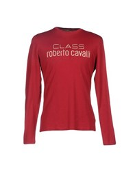 Class Roberto Cavalli Topwear T Shirts Men Brick Red