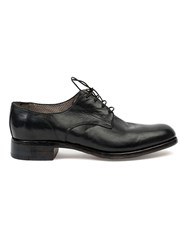 Premiata Stacked Heel Derby Shoes Black
