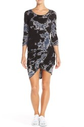 Hard Tail Tie Dye Ruched Knit Dress Black