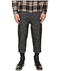Matiere Fields Italian Woven Cropped Pants Jet Black Men's Casual Pants