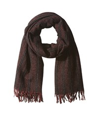 John Varvatos Ticking Stripe Oxblood Scarves Red