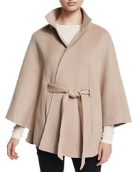 Cashmere Belted Cape Brown Neiman Marcus Cashmere Collection Sand