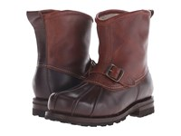 Frye Warren Duck Engineer Espresso Multi Wp Smooth Pull Up Shearling Lined Men's Pull On Boots Brown