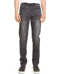 Kenneth Cole New York Slim Fit Straight Leg Whiskered Jeans Gray Wash