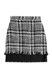 Msgm Mini Skirt With Wool Multicolor